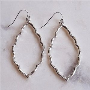Hammered Ornate Quatrefoil shaped earrings